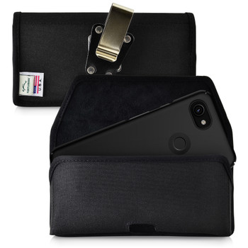 Holster for Google Pixel 3 XL and Pixel 3A XL (2019) Heavy Duty Rotating Belt Clip Nylon Pouch, Horizontal