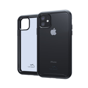 Tough Defense Drop Tested Case for Apple iPhone 11 (6.1 Inch) Military Grade, Anti-Scratch Ultra Clear Back & Black Sides