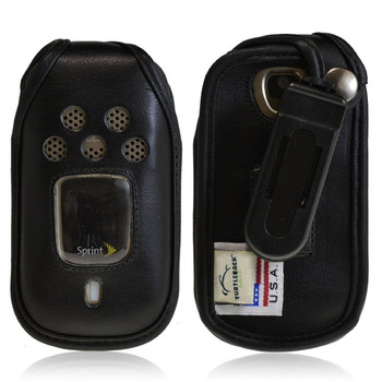 Kyocera DuraXT E4277 Executive Black Leather Case with Ratcheting Belt Clip