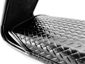 Police Premium Basketweave Bonded Leather Material