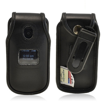 LG Envoy 2 II un160 Executive Black Leather Case Phone Case with Ratcheting Belt Clip