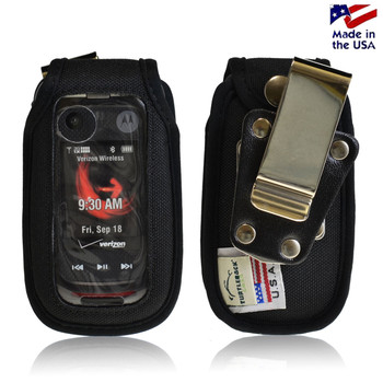 Motorola V860 Barrage Nylon Rugged Case with Metal Clip