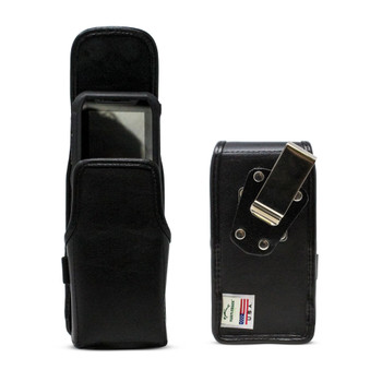 Turtleback JVC Kenwood KWSA50K Leather Vertical Phone Holster Pouch Case, Metal Belt Clip