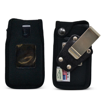 Link II 2 Fitted Case Heavy Duty Black Nylon with Rotating, Removable Metal Belt Clip