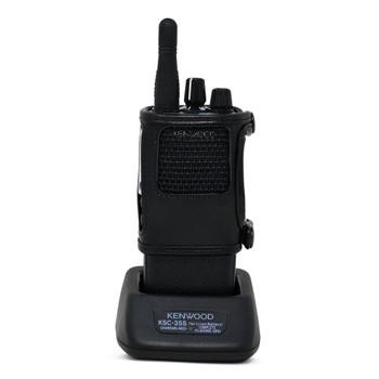 Kenwood NX1300 NEXEDGE D Ring Carry Holder Case Radio Black Leather Duty Holster D Rings