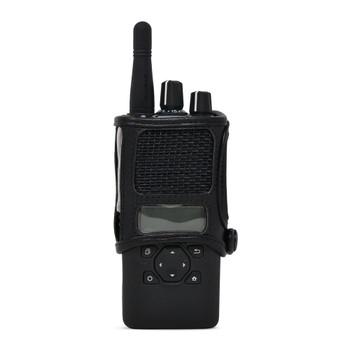 Kenwood NX3200 NEXEDGE D Ring Carry Holder Case Radio Black Leather Duty Holster D Rings