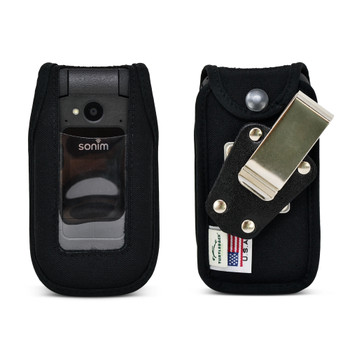 Sonim XP3plus Case Heavy Duty Fitted Black NYLON Removable Metal Belt Clip