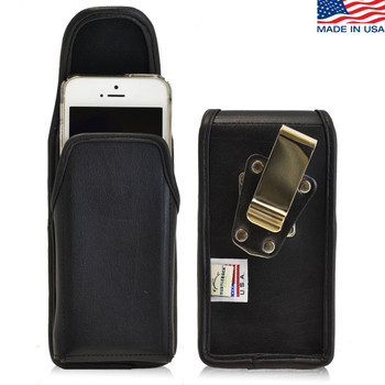 iPhone 5/5S/SE Vertical Leather Rotating Clip Holster