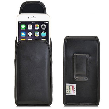Apple iPhone 6 PLUS (5.5 in.) Vertical Leather Holster, Black Belt Clip