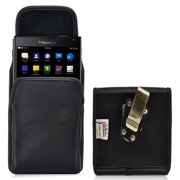 Blackberry Passport Vertical Leather Holster, Metal Belt Clip