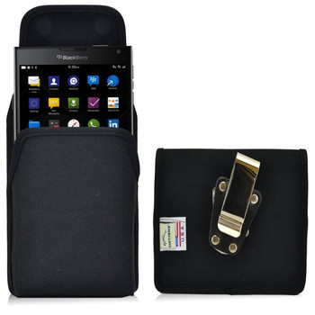 Blackberry Passport Vertical Nylon Holster, Metal Belt Clip