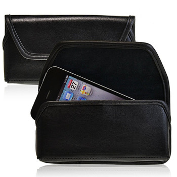 Apple iPhone SE, 5, 5S, 5C, 4 Leather Holster Black Clip For Bulky Cases