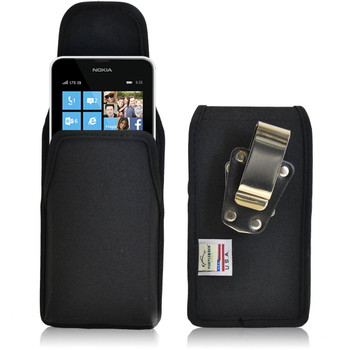 Nokia Lumia 635 Vertical Nylon Holster, Metal Belt Clip