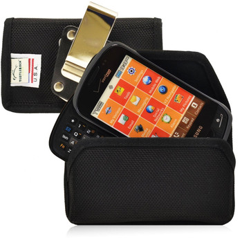 Samsung Brightside Qwerty Horizontal Leather Holster, Metal Belt Clip