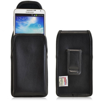 Samsung Galaxy Note 3 III Vertical Leather Holster, Black Belt Clip