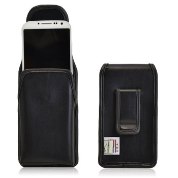 Samsung Galaxy S4 IV Vertical Leather Holster, Black Belt Clip