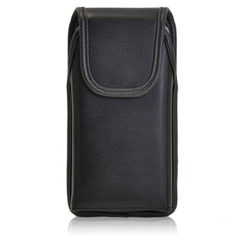 Samsung Galaxy S5 Active Vertical Leather Holster, Black Belt Clip