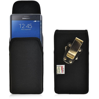 Samsung Note Edge Vertical Nylon Holster, Metal Belt Clip