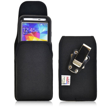 Vertical Nylon Extended Holster for Samsung Galaxy S5 V with Bulky Cases, Metal Belt Clip