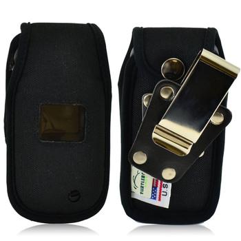 LG Envoy 3 un170 Heavy Duty Nylon Phone Case with Rotating Metal Belt Clip