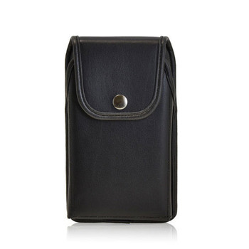 6.00 X 3.25 X 0.62in - Leather Holster Metal Belt Clip with Snap Closure