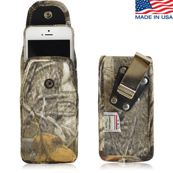 Vertical Camouflage SM Nylon Holster, Metal Belt Clip