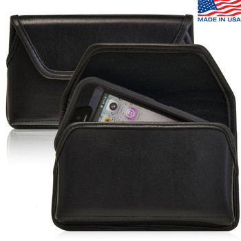 iPhone 5/5S/SE (1st Gen) Extended Horizontal Leather Rotating Clip Holster