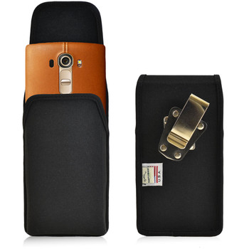 LG G4 Vertical Nylon Holster, Metal Belt Clip