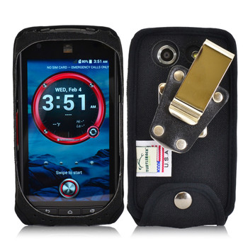Kyocera DuraForce E6560 Heavy Duty Nylon Phone Case with Removable Metal Clip