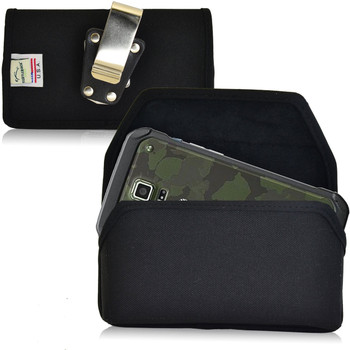 Samsung Galaxy S5 Active Horizontal Nylon Holster, Metal Belt Clip