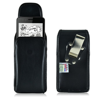 Verykool Fusion, Senseit Luna & Luna Jr Leather Holster, Metal Belt Clip
