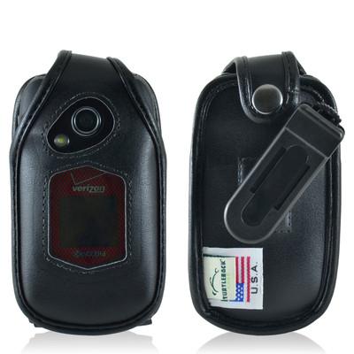 Kyocera DuraXV+ Plus Leather Fitted Case Black Belt Clip