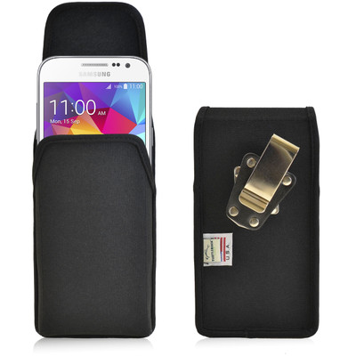 Galaxy Core Prime Vertical Nylon Holster Case, Metal Belt Clip