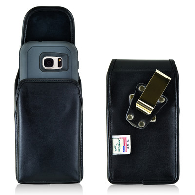 Galaxy S7 Extended Vertical Leather Rotating Clip Holster