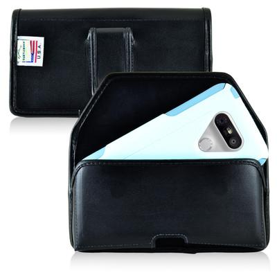 Turtleback LG G5 Leather Holster Case with Black Belt Clip for Otterbox Commuter