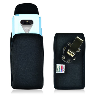 Turtleback LG G5 Vertical Nylon Holster Case with Metal Clip for Otterbox Commuter