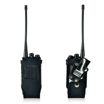 Hytera HYT TC-508 Heavy Duty Black Nylon Fitted Case with Rotating Metal Belt Clip