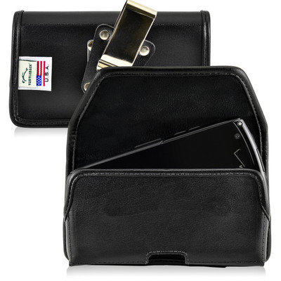 Kyocera Brigadier E6782 Holster Metal Belt Clip Case Pouch Leather Horizontal