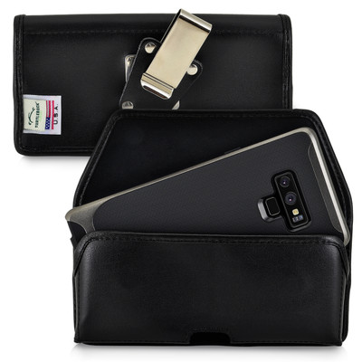 Samsung Note 9 and Note 8 Holster Metal Clip Case Pouch Leather Turtleback