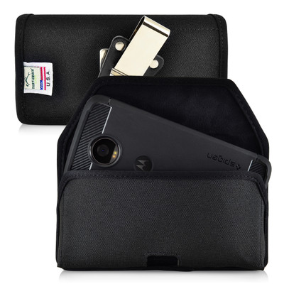 Motorola Moto Z2 Play Holster Metal Belt Clip Case Pouch Nylon