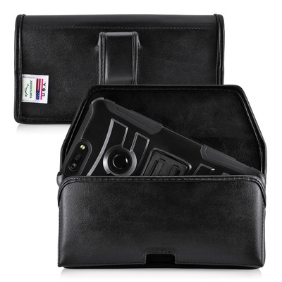 ZTE Blade Z Max Holster Black Belt Clip Case Pouch Leather Turtleback