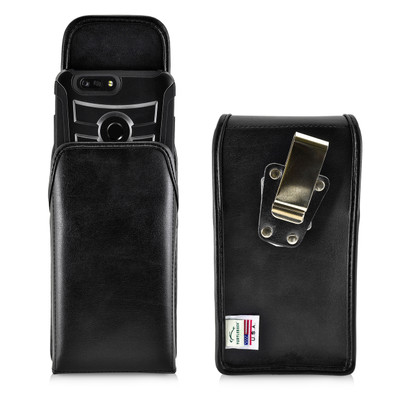 ZTE Blade Z Max Holster Metal Clip Case Pouch Leather Vertical Turtleback
