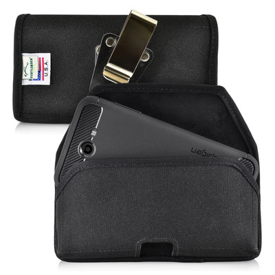 Galaxy J7 2017 Prime, Perx, Halo SLIM Holster, Black Nylon Rotating Belt Clip