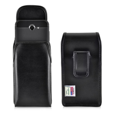 Galaxy J7 2017 Prime Perx Halo Belt Case SLIM Vertical Black Leather Belt Clip