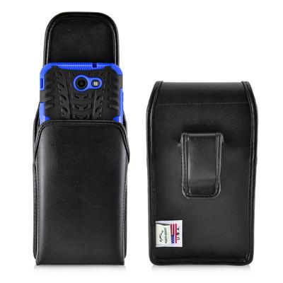 Galaxy J7 2017 Prime Perx Halo Belt Case BULKY Vertical Black Leather Belt Clip
