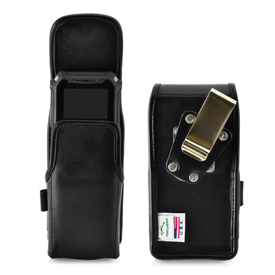 Turtleback Sonim XP5s Leather Vertical Phone Holster Pouch Case, Metal Belt Clip