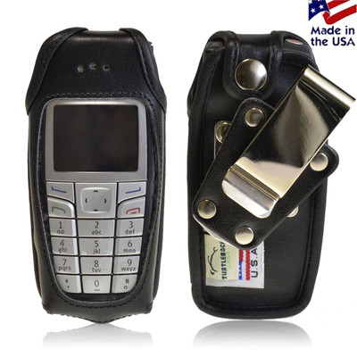 Nokia 6015i Leather Fitted Phone Case with Rotating Metal Belt Clip