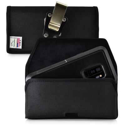 Galaxy S9 Plus Belt Clip Case for Otterbox PURSUIT Case Rotating Belt Clip Black Nylon Pouch