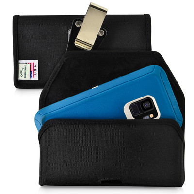 Galaxy S9 Belt Clip Case made for Otterbox DEFENDER Case Rotating Belt Clip Black Nylon Pouch
