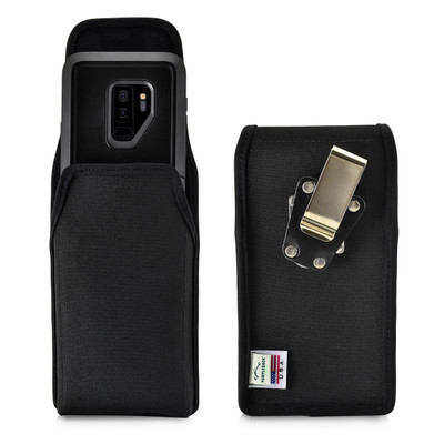 Galaxy S9 Plus Vertical Belt Clip Case for Otterbox PURSUIT Case Rotating Belt Clip Black Nylon